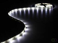 Witte FLEXIBELE LED STRIP - KOUD WIT - 150 LEDs - 5m - 12V - HQ Products