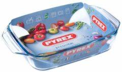 Witte Pyrex Irresistible Ovenschaal Rechthoek - Met Grepen - Borosilicaatglas - 2,9 liter - Transparant