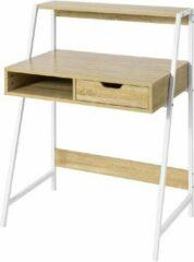 Witte Simpletrade Bureau - Bureautafel - Lade - Open vak - 81x100x50 cm