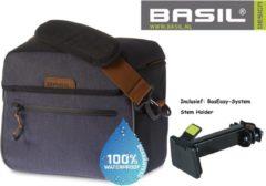 Basil Stuurtas Miles - 26 x 16 x 23 cm cm Waterproof Donkergrijs – Incl. BasEasy bevestigings beugel