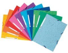 Exacompta elastomap 3 kleppen formaat A4 geassorteerde kleuren pak van 10