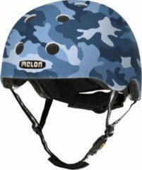 Melon Camouflage Blue Fietshelm - Maat M-L (52-58cm) - Blauw