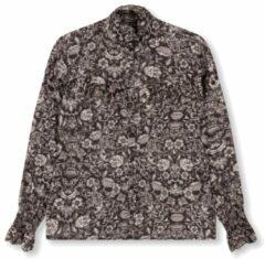 Zwarte Alix The Label Woven Flower Linen dames blouse