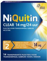 Niquitin Clear Pleisters 14mg Stap 2 Duoverpakking