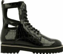 Zwarte Kendall & Kylie Kendall + Kylie Langmore Croco Boot Women Black-Black 36