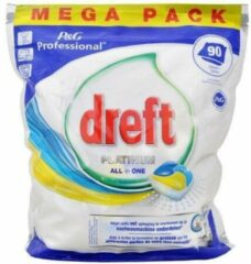 Dreft Professional Dreft Platinum - All in One Lemon - 90 stuks -Vaatwastabletten