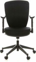 BS24 Bureaustoel - Met Armleuning - Stof - Zwart/Zwart - Ergonomisch