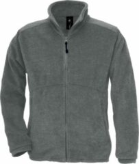 B and C B&C Heren Icewalker+ Full Zip Fleece Top (Houtskool)