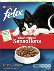 Countryside sensations met rund, met kip en met groenten 1kg kattenvoer Felix