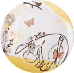 Zak!designs Feestbord Pooh Junior Melamine 25,5 Cm Wit/geel