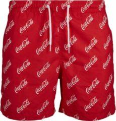 Rode Merchcode Heren zwemshorts Logo Coca Cola