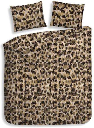 Afbeelding van Goudkleurige Heckettlane Heckett & Lane Nora - Flanel - Dekbedovertrek - Eenpersoons - 140x200/220 cm + 1 kussensloop 60x70 cm - Golden Brown