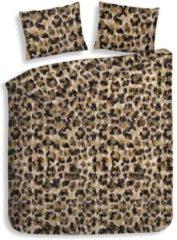 Goudkleurige Heckettlane Heckett & Lane Nora - Flanel - Dekbedovertrek - Eenpersoons - 140x200/220 cm + 1 kussensloop 60x70 cm - Golden Brown