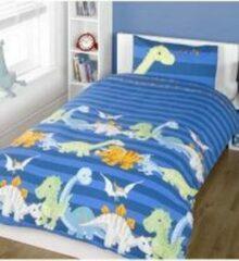 KKS Peuter Dekbedovertrek Blauw 120 x 150 Dinosaurus