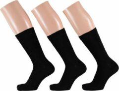 Zwarte dames sokken 3 paar maat 35/42 - Basic sokken zwart
