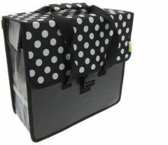 Zwarte Beck Shopper White Small Dots enkele fietstas 18 liter