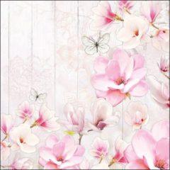 Roze Ambiente Magnolia Garden papieren servetten