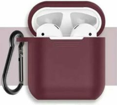 Bordeauxrode Miro Ecommerce MIRO Bordeaux rode case voor AirPods type 1 & 2