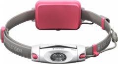 Ledlenser NEO-6R Roze - Jogging hoofdlamp & borstlamp in één - Oplaadbaar - Breedbeeldformaat - niet-verblindend - 240 lm