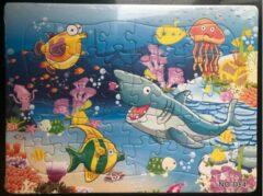 Stemen Kinderpuzzel haai inktvis 28 cm x 21 cm