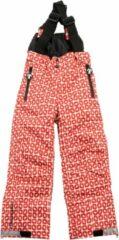 Rode Ducksday skibroek met bretellen voor kinderen unisex Funky red