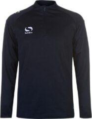 Blauwe Sondico ¼ Zip Trainingsshirt lange mouw - Heren - Navy - L