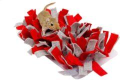 "Rode ""Bunny nature"" ""Bunny nature snuffelmat vilt rood / grijs 28x15x5 cm"""