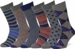 Blauwe Easton Marlowe Sokken Dames Heren 39-42 Grijs - leuke sokken mannen dames - vrolijke herensokken damessokken - fun happy socks 6 pack #44