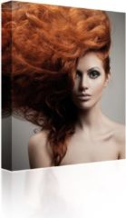 Sound Art - Canvas + Bluetooth Speaker Lady With Red Hair (23 x 28cm)