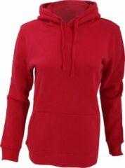 Russell Dames Premium Authentieke Hoodie (3-Lagen Stof) (Klassiek rood)