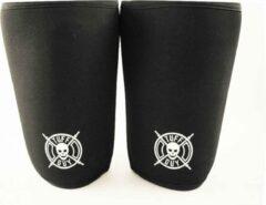Zwarte Tuff Guy Sports Tuff Guy - Professionele Knee Sleeves- Large -7mm- Heavy Duty Support en Hulp bij Fitness, Bodybuilding, Powerlifting, Gewichtheffen en Crossfit
