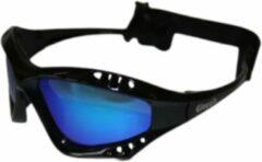 Glogglz Zwembril Finz Polycarbonaat Zwart/blauw One-size