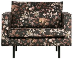 Zwarte BePureHome RODEO FAUTEUIL AQUAREL FLOWER CHESTNUT