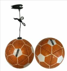 DE Ballenzaak Mini bal met elastiek KICK and PLAY db SKILLS Licht oranje