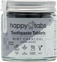 Tandpasta Tabletten (Actieve Kool met Pepermunt) - Happy Tabs 80 Tabletten