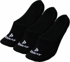 Donnay - Enkelsokjes - Footies - 3 Paar - Zwart - 47-50