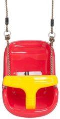 Rode DeBruineschommels Baby Schommelzitje Luxe Rood-Geel PP touwen