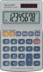 Zakrekenmachine Sharp EL-250 S Wit, Blauw Aantal displayposities: 8 werkt op zonne-energie, werkt op batterijen (b x h x d) 71 x 16 x 115 mm