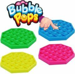 Star toys Pop it Fidget toys - zeskant - geel