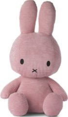 Roze Nijntje Miffy Sitting Corduroy Pink knuffel 50 cm