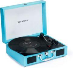 Turquoise RICATECH RTT21 - Platenspeler met Bluetooth - Blauw