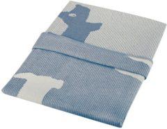 Blauwe Baninni Cesar - Ledikantdeken 110x140 cm - Blauw