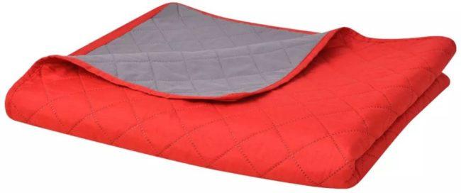 Afbeelding van 5 days Dubbelzijdige quilt bedsprei rood en grijs 170x210 cm