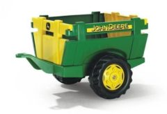 Groene Rolly Toys aanhanger RollyFarm John Deere junior groen