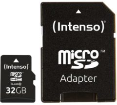 Intenso Class 10 - Flash-Speicherkarte ( microSDHC/SD-Adapter inbegriffen ) - 32 GB 3413480