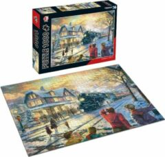 White Rhinoceros Jigsaw Legpuzzel 'Locomotive' Puzzel 1000 Stukjes Volwassenen Legpuzzels - Met Extra Voorbeeldposter - Museum Puzzel - Natuur - Dieren - Stad - Kunst - Hobby Speelgoed - Legpuzzels Volwassenen Kinderen - 50*70 cm