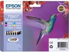 Sparset 6 Epson Tintenpatronen T08074010, cyan, magenta, gelb, schwarz, lightcyan, lightmagenta