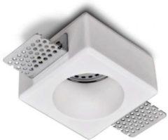 Witte Merkloos / Sans marque Artdelight Inbouwspot Boda 1 lichts rond Trimless gips