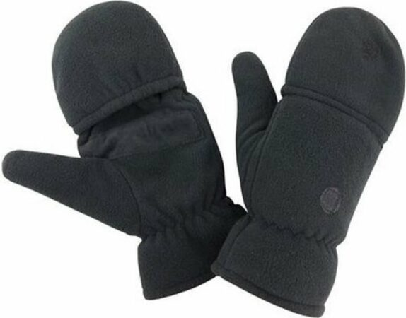 Afbeelding van Result Zwarte wanten/handschoenen voor volwassenen L/XL