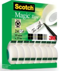Scotch Magic Tape Plakband Ft 19 Mm X 33 M, Value Pack Met 24 Rollen